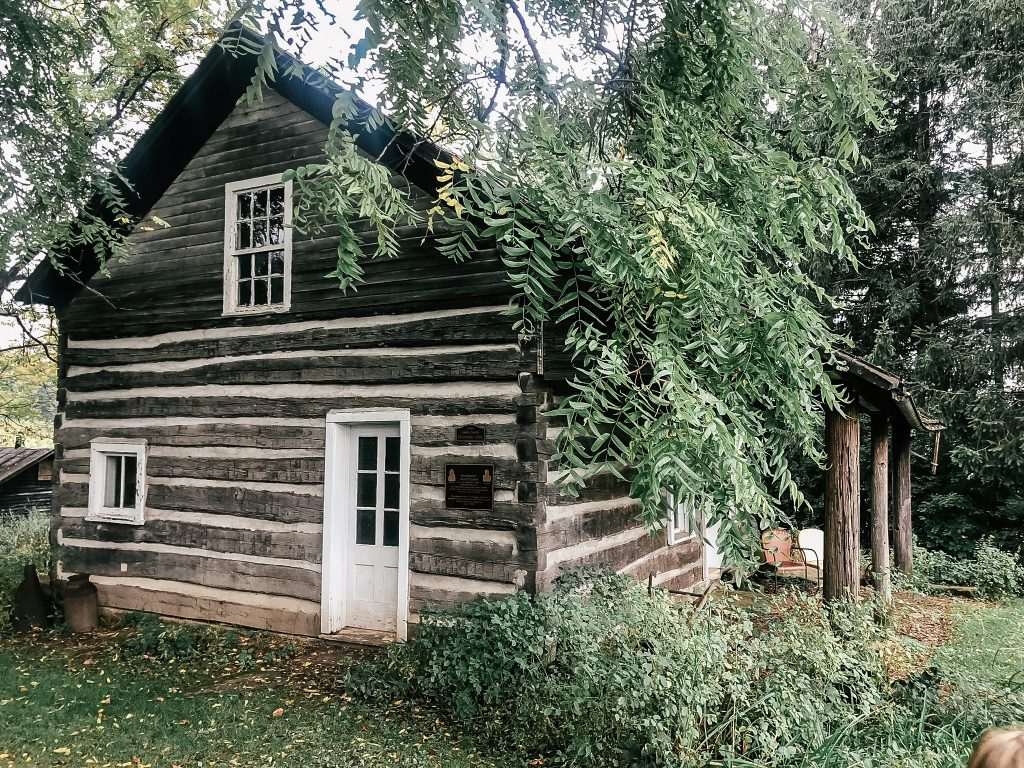 Historic log cabin on property
