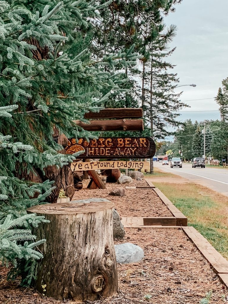 Entrance to Big Bear Hideaway