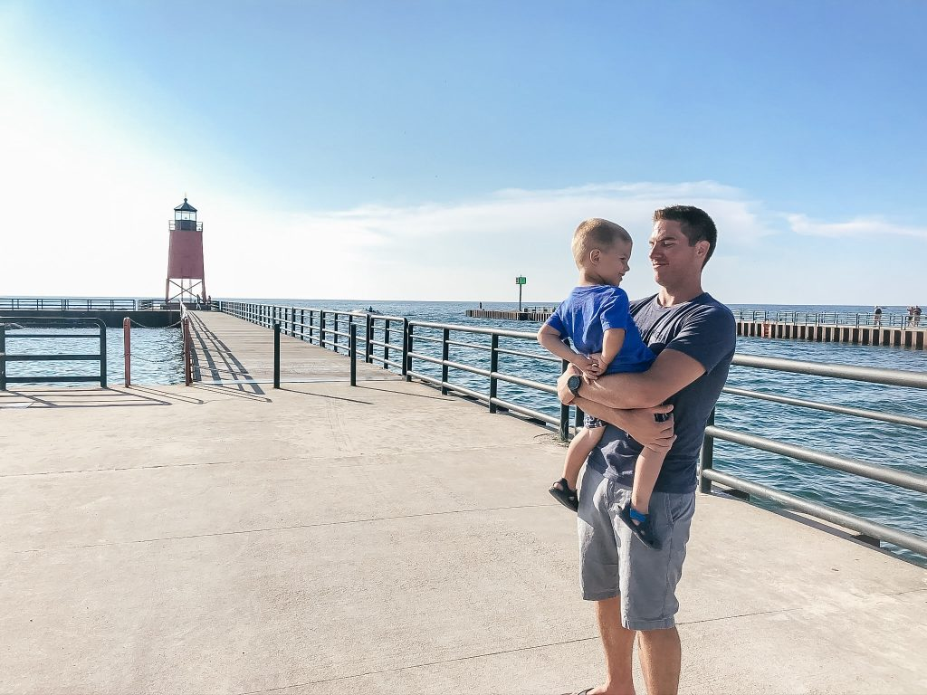 South Pier Lighthouse in Charlevoix MI