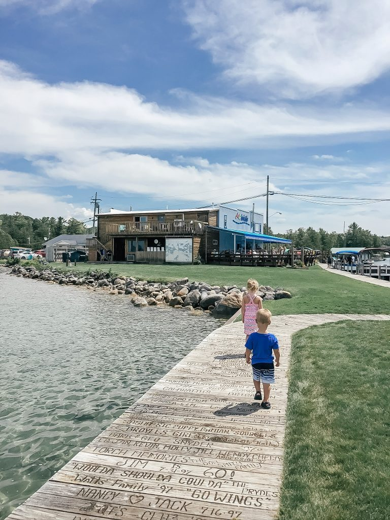 Dockside Bar and Grill on Torch Lake in Michigan