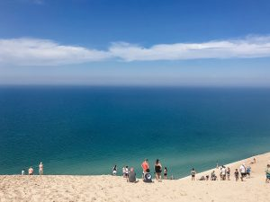 Lake Michigan Overlook on Pierce Stocking Scenic Drive