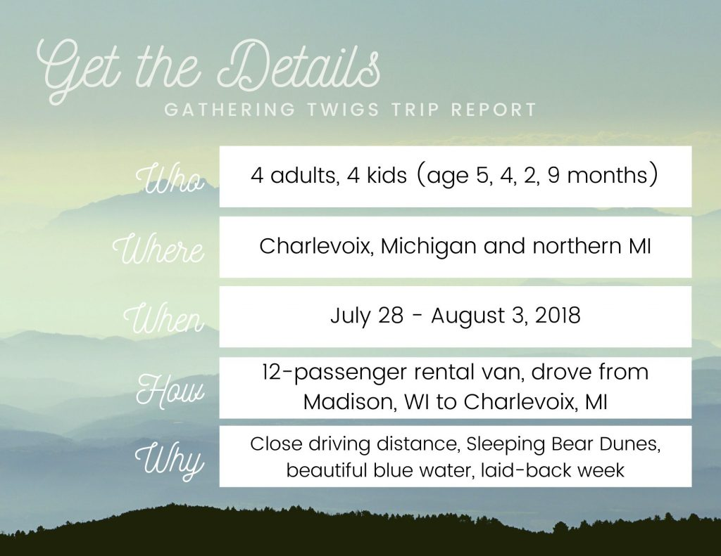 Details about a family-friendly road trip into Northern Michigan